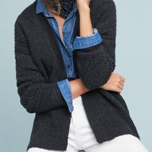 Anthropologie Moth Cable-Knit Cardigan